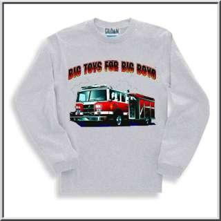 Big Toys Boys Fire Engine T Shirts KIDS 6 8,10 12,14 16