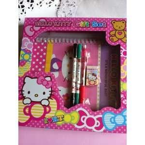 Authentic Sanrio Hello Kitty Stationery Set   5 pcs (pink