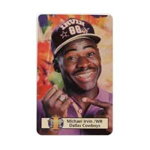 Collectible Phone Card 5m Michael Irvin Pointing To Ring (WR   Dallas