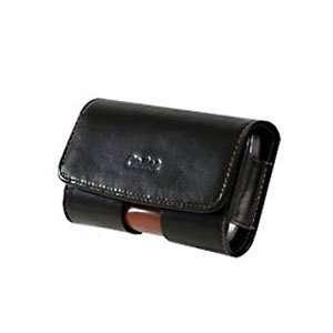 Premium Executive Black Horizontal Side Omega Leather Case