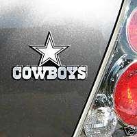 CHROME CAR/AUTO EMBLEM DALLAS COWBOYS NFL FOOTBALL