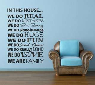 Vinyl lettering wall art words quotes family decor decal love