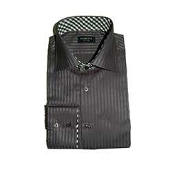 Domani Blue Label Mens Stripe Dress Shirt