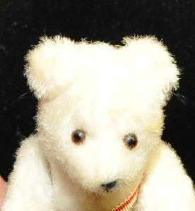 tiny 5 Straw Stuffed Antique vintage Teddy Bear jointed rare german