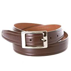 Cole Haan Mens Dorian Dark Brown Dress Belt