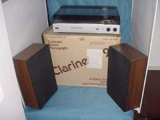 VINTAGE REALISTIC CLARINETTE 23 TURNTABLE MUSIC SYSTEM RECORD PLAYER