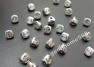 80 Tibetan Silver 3 Sides Beads Spacers Findings B758