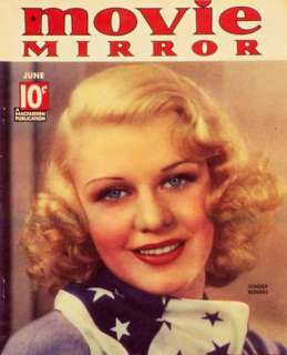 Ginger Rogers   Movie Mirror Magazine Cover 1930s Masterprint at