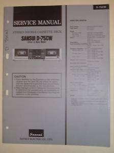 Sansui Service Manual~D 75CW Cassee Deck~Original |