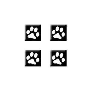 Paw Print   Dog Cat   Set of 4 Badge Stickers Electronics