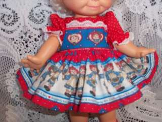 Doll Clothes for 14 BABY FACE Raggedy Ann Dress Set
