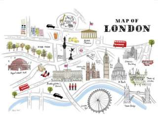 Map of London Prints by Alice Tait at AllPosters