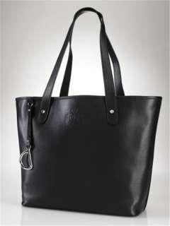 Ralph Lauren Ladies Black Newbury Leather Classic Tote