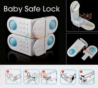 Baby Safe Lock Band Cupboard Drawers Wardrobe Fridge