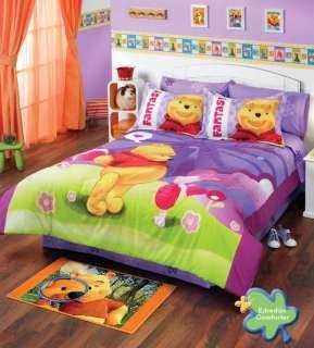 NEW Kids Disney Winnie The Pooh Comforter Bedding Set Twin 6pcs