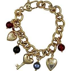 Dolce & Gabbana Goldtone Heart Charm Bracelet