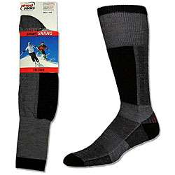Black Cushioned Merino Wool Ski Socks (Pack of 3)