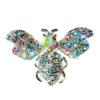 Crystal Queen Honey ~BUMBLE BEE~~ insect Bug Pin Brooch