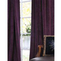 Eggplant Velvet 96 inch Blackout Curtain Panel