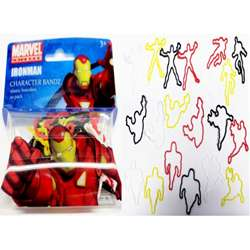 Character Bandz Marvel Iron Man Characters Shaped Silicone Kids