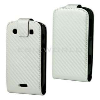 WHITE CARBON FIBRE FLIP HARD CASE FOR BOLD 9900 & 9930 COVER/SKIN