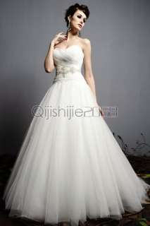 white ivory wedding Dress Bridal/Prom/Party Gown size 6 8 10 12 14 16