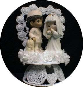 Hispanic black groom Precious Moments figurine Wedding Cake Topper