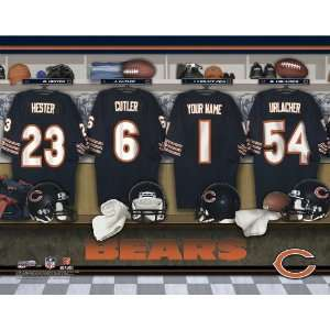Personalized Chicago Bears Locker Room Print Sports