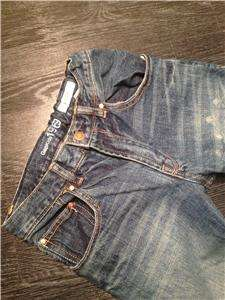 Boys GAP Boot Cut Leg Jeans Size 10 Regular 1969 Pants Skulls EUC