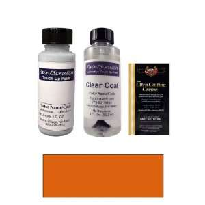 2 Oz. Imperial Orange Pearl Metallic Paint Bottle Kit for