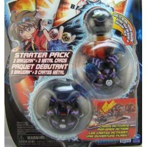 Bakugan Starter Pack ~ Black ~ Mystery Marble, Falconeer