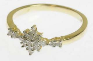 LADIES 14K YELLOW GOLD DIAMOND RIGHT HAND ESTATE RING 152217