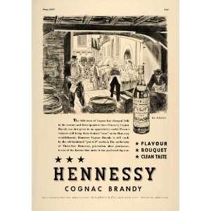 Hennessy Cognac Brandy Disillers   Original Prin Ad Home & Kichen
