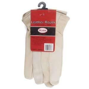 Leather Roper Unlined Ladies Gloves, Medium