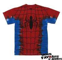 MARVEL COMICS SPIDERMAN TIE DYE ADULT TEE SHIRT S 2XL