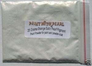 Orange satin ghost flame pearl paint powder airbrush