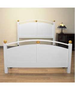 Orbit White Wood Full size Bed