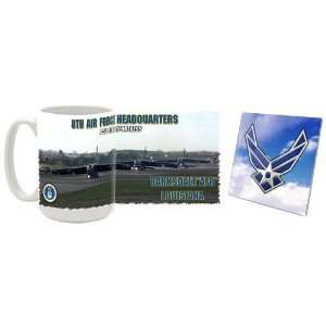 USAF 8th Air Force Headquarters B 52 Mug/Coaster Kitchen