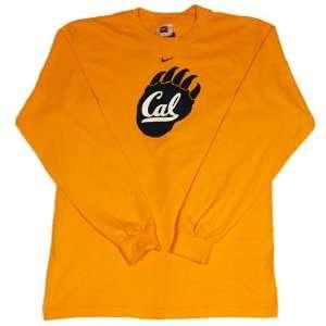 Cal Nike Gold Paw Logo Long Sleeve Tee