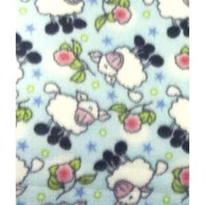 Blue Rosy Sheep Fleece Fabric: Arts, Crafts & Sewing