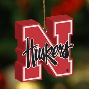Nebraska Cornhuskers Team 3D Logo Ornament NCAA College Athletics Fan