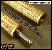Powerglide Tournament Ash Snooker Pool Cue with Case Masse