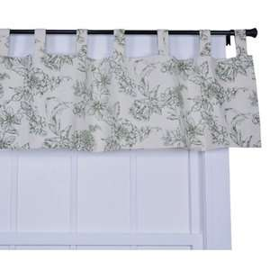 Ellis Curtain Andrea Thermal Insulated Tab Top Valance Window Curtain