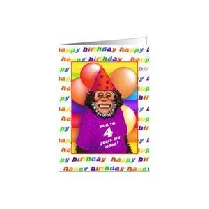 26 Years Old Birthday Cards Humorous Monkey Card Toys