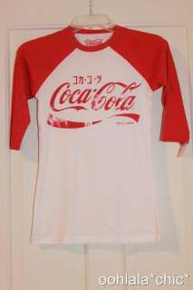 COCA COLA Coke Vintage Look Japan Baseball Tee T Shirt