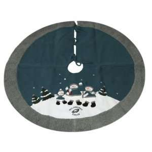 Philadelphia Eagles NFL Snowman Holiday Tree Skirt (48