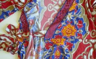 Hale Bob Floral Jersey Wrap Dress M 8 10 UK 12 14 NWT Red Fuchsia Blue
