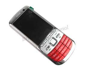 Unlocked Quad band Loud Speaker Mobile cell Phone 2 Sim TF Card Red