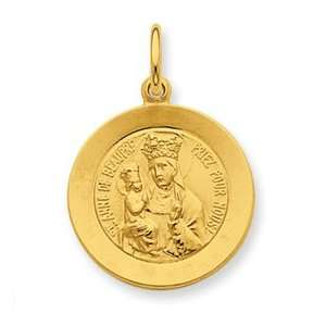 Silver & 24k Gold   plated Saint Anne de Beaupre Medal Jewelry