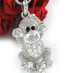 NEW CUTE MONKEY NECKLACE PENDANT CHARM JEWELRY N416